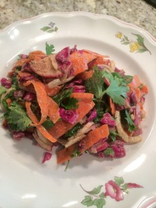 Cabbage Fennel Slaw with Creamy Almond Butter Dressing
