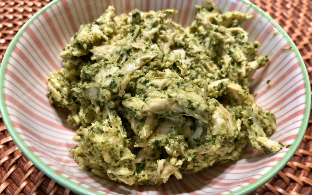 Easy Pesto Chicken Salad