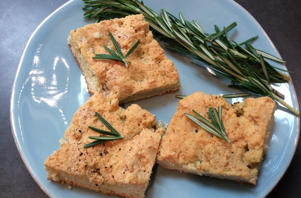 Olive Oil and Parsley Focaccia (Gluten and Grain Free)